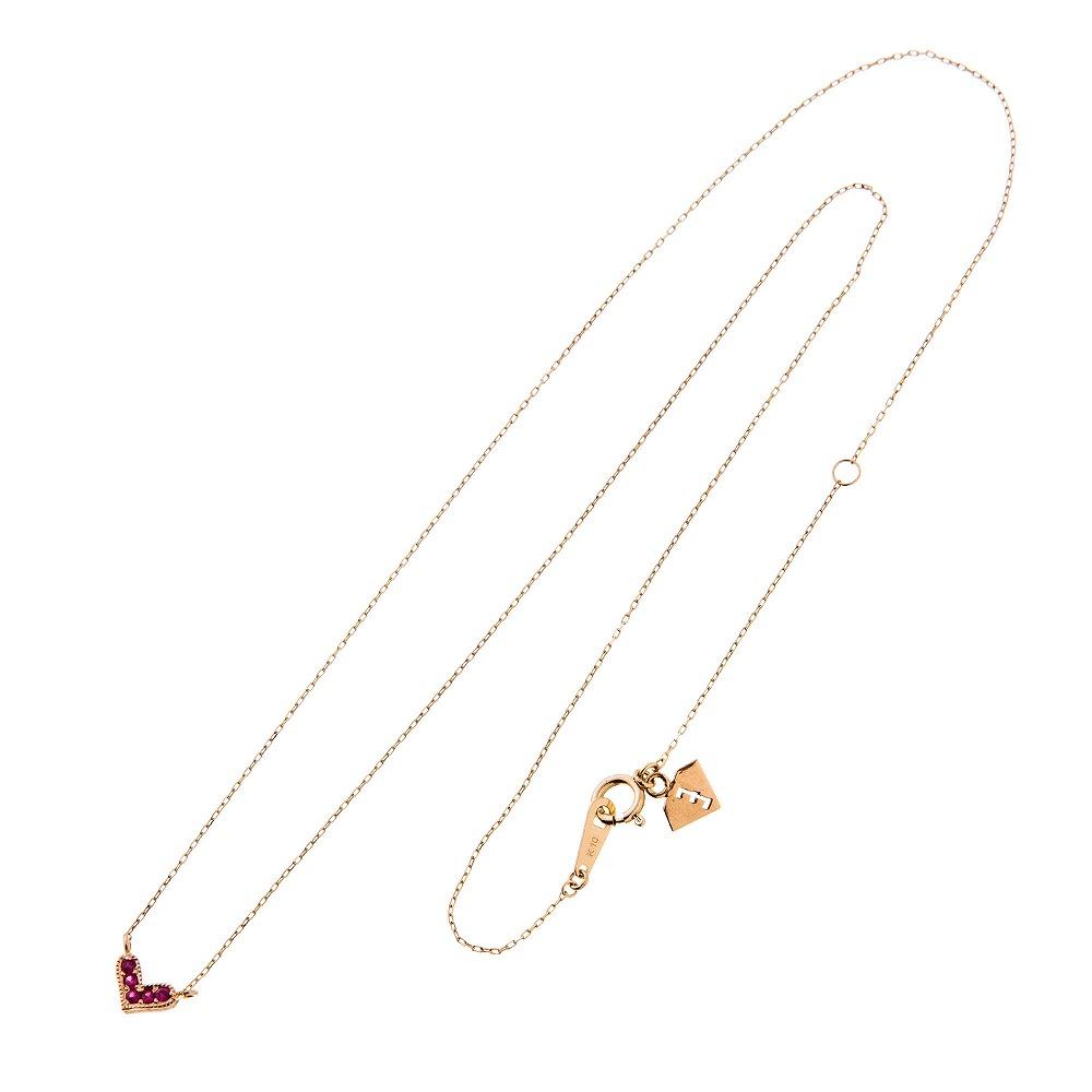 特別価格 エレノアジュエリー Elenore Jewelry 10金ルビーハートネックレス ゴールドネックレス K10 10K ELP0002