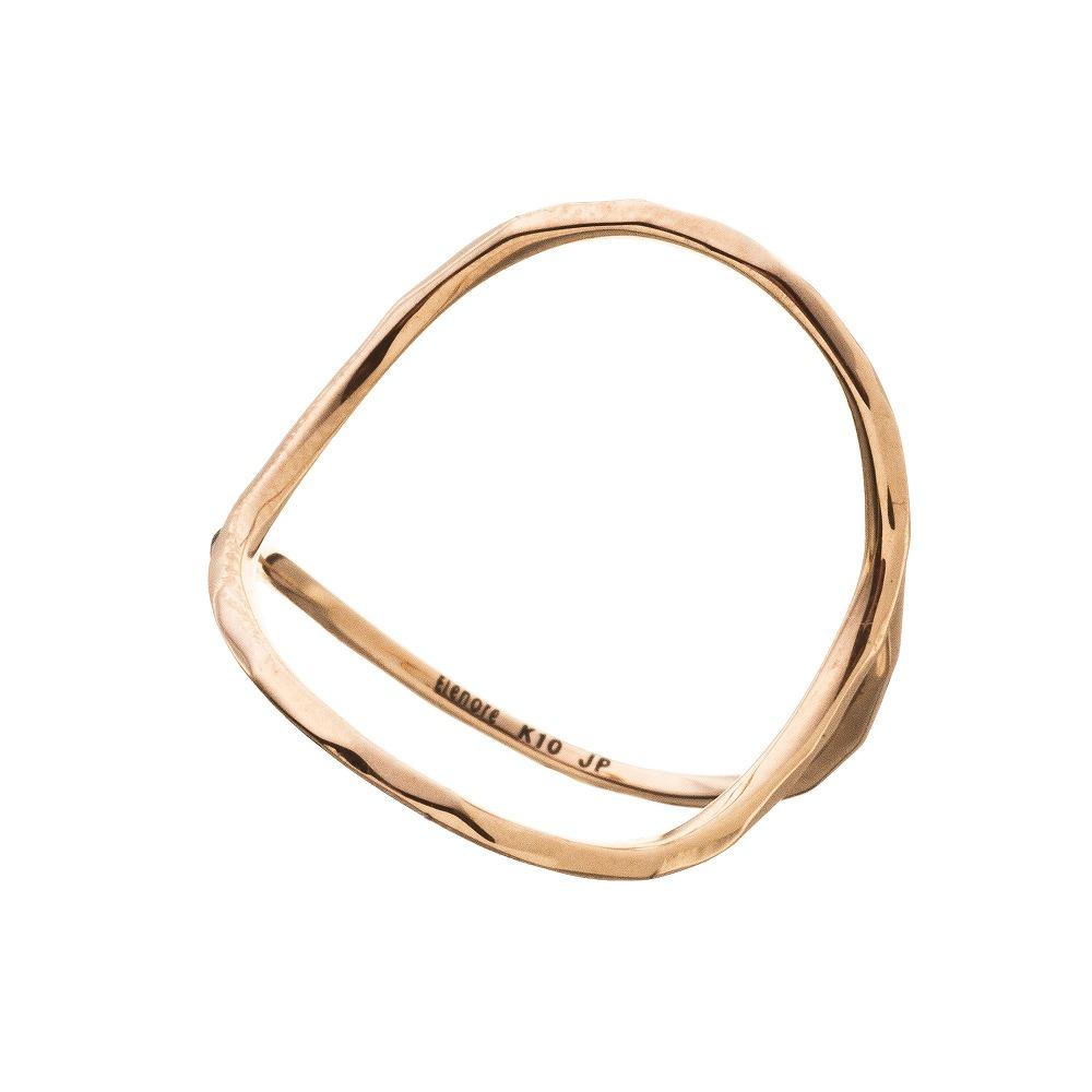 特別価格 エレノアジュエリー Elenore Jewelry 10金オープンサークルリング 指輪 ゴールド K10 10K ELR0002