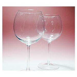 退職祝い[バルーン型]ワイングラス(ペア)ブーケ柄-名入れギフト
