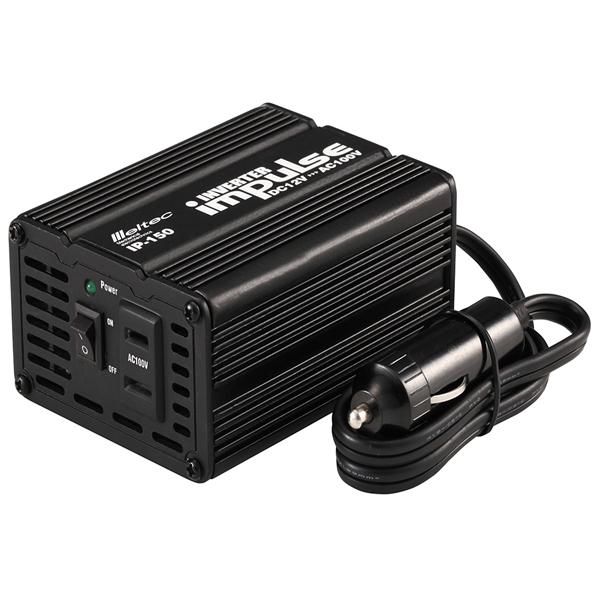 激安卸販売新品 大自工業 Meltec インバーター DC12V専用 矩形波 IP-150 シガー電源 在庫処分 疑似正弦波 120W 定格出力