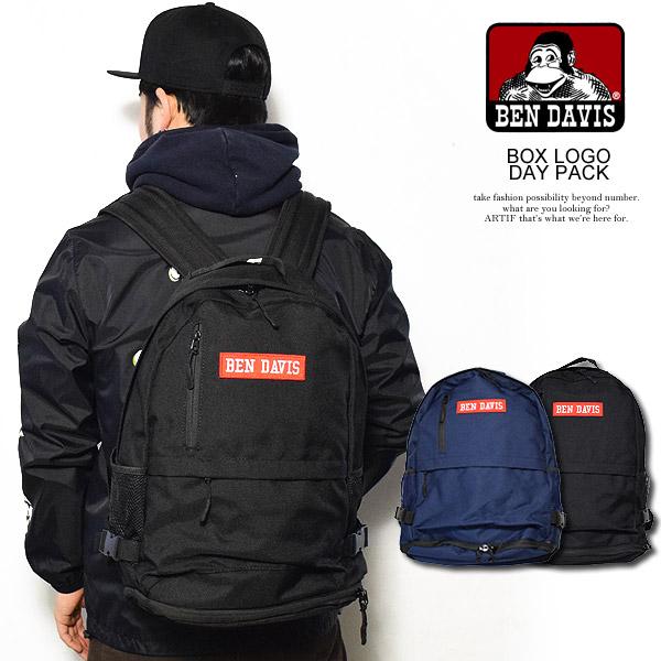 BEN DAVIS ベンデイビス BOX LOGO DAY PACK メンズ デイパック バッグ バックパック リュック 鞄 カバン おしゃれ かっこいい ストリート bendavis ベンデービス