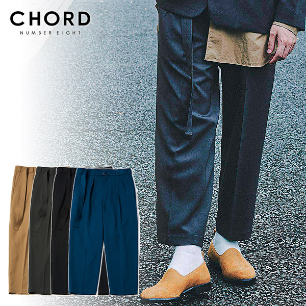 CHORD NUMBER EIGHT コードナンバーエイト TWO TUCK WIDE PANTS chordnumbereight 【cha1-02l1-pl05】 メンズ パンツ 送料無料 ストリート