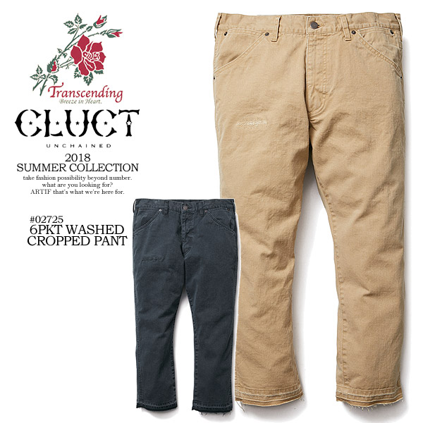 50%OFF SALE セール CLUCT クラクト 6PKT WASHED CROPPED PANT メンズ パンツ 送料無料 ストリート