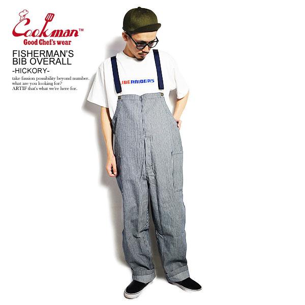 COOKMAN クックマン オーバーオール FISHERMAN'S BIB OVERALL -HICKORY- 231-03848 メンズ フィッシャーマンズオーバーオール 期間限定特価品 カジュアル 格安 cookman ストリート ファッション パンツ サロペット ヒッコリー かっこいい おしゃれ 送料無料
