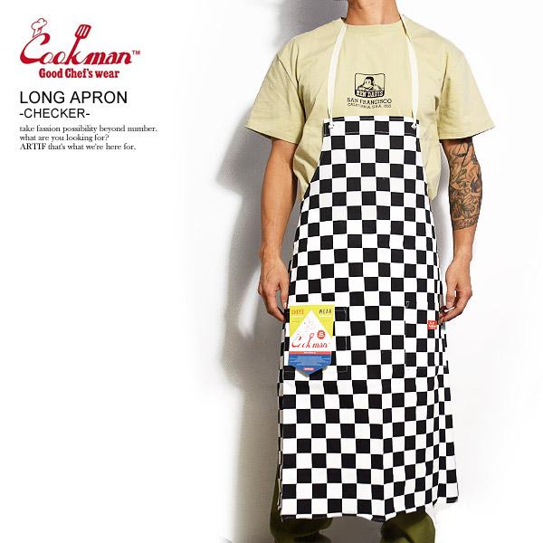 COOKMAN クックマン エプロン LONG 新発売 APRON -CHECKER- メンズ かっこいい カジュアル ロングエプロン ストリート cookman ファッション 超人気 おしゃれ