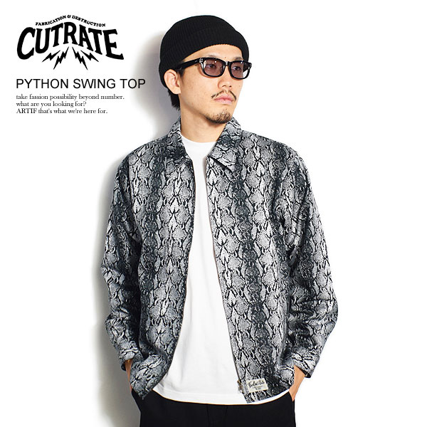 CUTRATE カットレイト PYTHON SWING TOP cutrate メンズ ジャケット パイソン柄 送料無料 ストリート