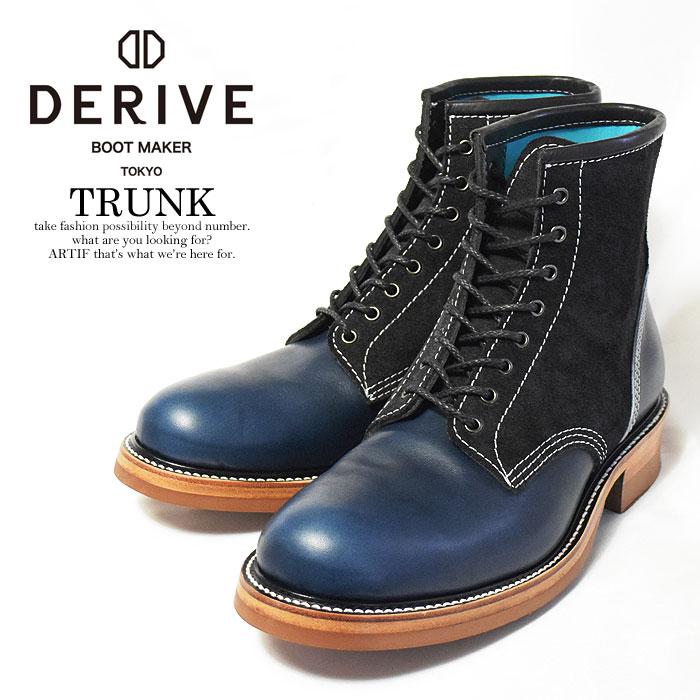 DERIVE ディライブ TRUNK レースアップブーツ メンズ ブーツ ワークブーツ アメカジ バイカー キャンセル不可 送料無料 ストリート