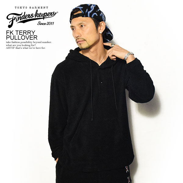 FINDERS KEEPERS ファインダーズキーパーズ FK-TERRY PULLOVER 春 夏 メンズ パーカー プルオーバーパーカー パイル タオル地 送料無料 おしゃれ 大きいサイズ トップス ストリート 春夏 春服 春物 冬服 冬物 finderskeepers