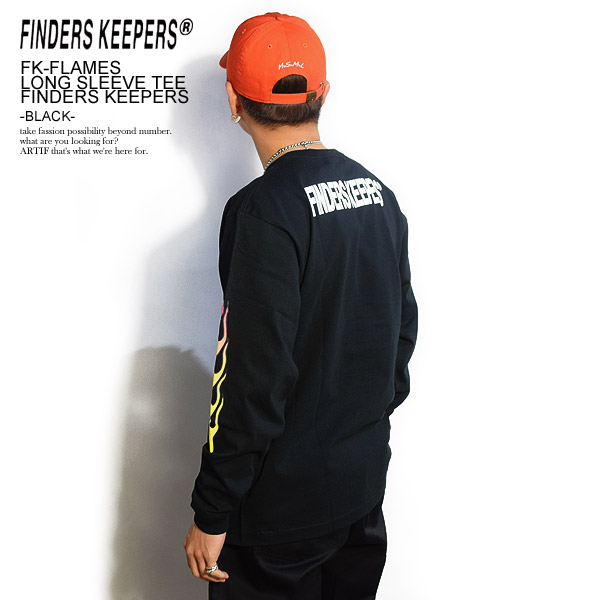 FINDERS KEEPERS ファインダーズキーパーズ FK-FLAMES LONG SLEEVE TEE FINDERS KEEPERS -BLACK- 春 夏 メンズ Tシャツ 長袖 長袖Tシャツ tシャツ ロンT 送料無料 おしゃれ かっこいい カジュアル ファッション トップス ストリート 春夏 春服 春物 夏服 夏物 finderskeepers