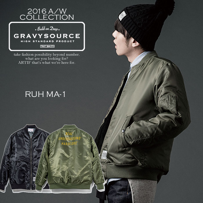 GRAVYSOURCE グレイビーソース RUH MA-1 gravysource メンズ ジャケット 送料無料 ストリート