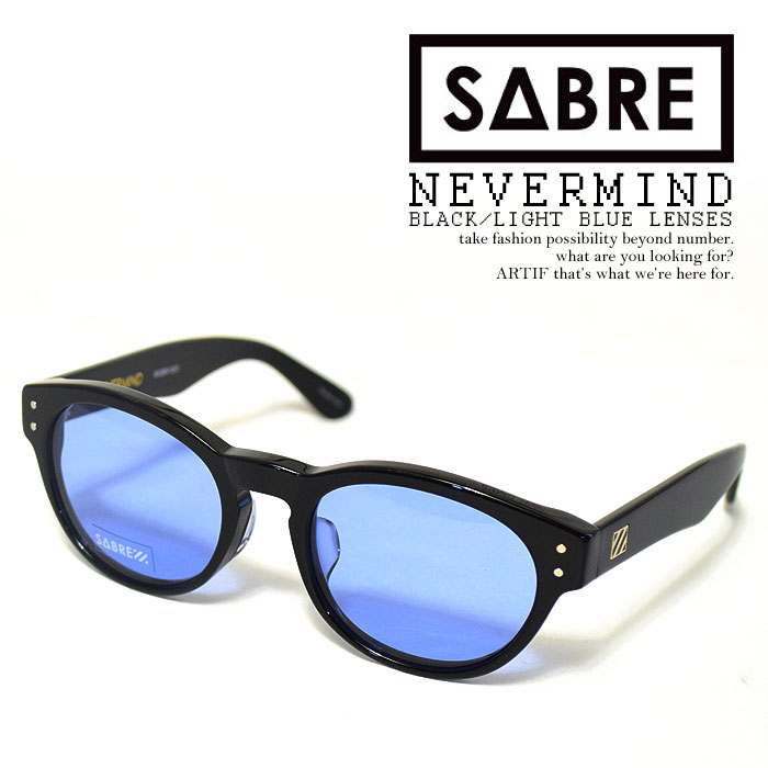 a62f4616d9d artif  SABRE Saber NEVERMIND-BLACK LIGHT BLUE LENSES-sv200-137j mens  accessories sunglasses genuine ladies fashionable cool Street import round  round ...