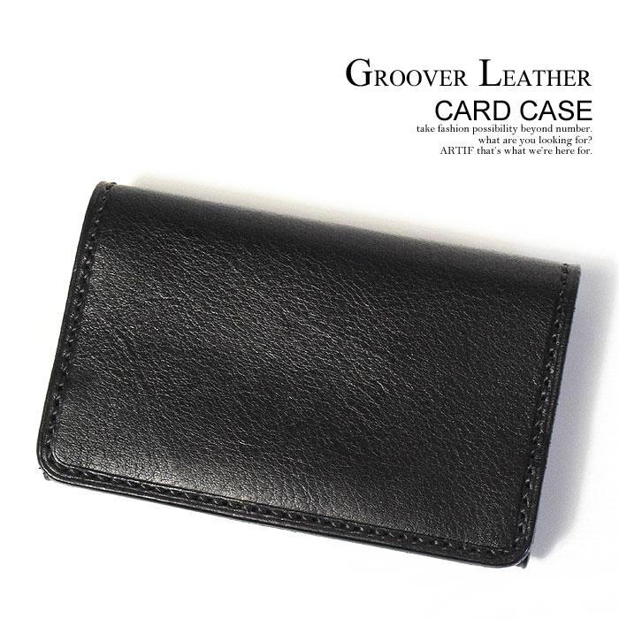 GROOVER LEATHER グルーバーレザー CARD CASE メンズ レディース カードケース 名刺入れ カード入れ ケース レザー 革 本革 おしゃれ かっこいい カジュアル ファッション シンプル ストリート 送料無料