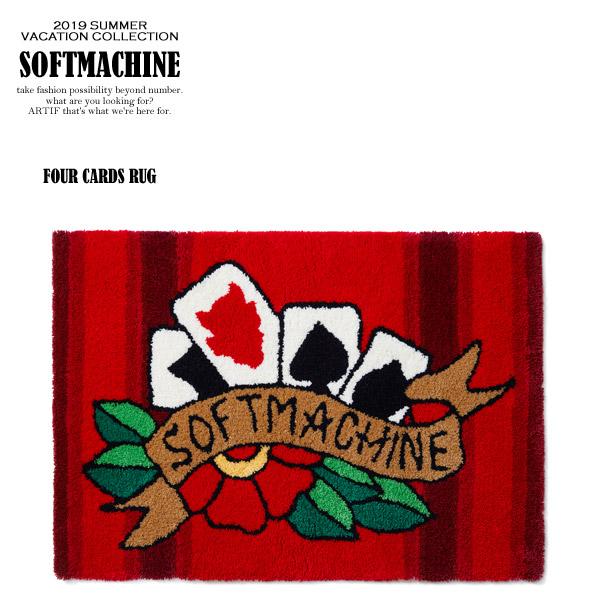 2019 春夏 先行予約 6月~7月入荷予定 SOFTMACHINE ソフトマシーン FOUR CARDS RUG メンズ ラグ 送料無料 キャンセル不可