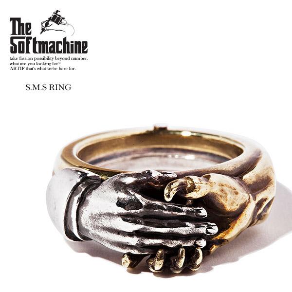 2019 春夏 先行予約 6月~7月入荷予定 SOFTMACHINE ソフトマシーン S.M.S RING メンズ リング 送料無料 キャンセル不可