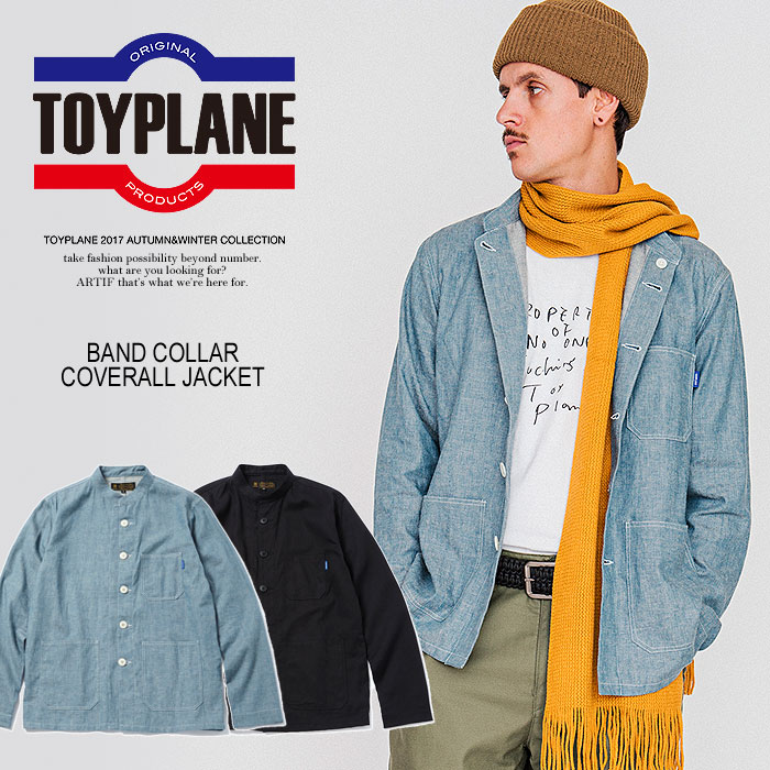 50%OFF!SALE セール TOYPLANE トイプレーン BAND COLLAR COVERALL JACKET toyplane 秋 冬 メンズ シャツ 送料無料 ストリート