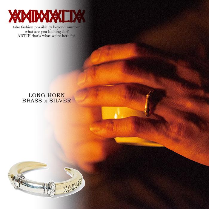 ANIMALIA アニマリア LONG HORN -BRASS/SILVER925- animalia メンズ リング 指輪 アクセサリー ジュエリー ホーン 角 おしゃれ かっこいい ブラス 真鍮 ゴールド 金 シルバー 銀 ストリート 送料無料