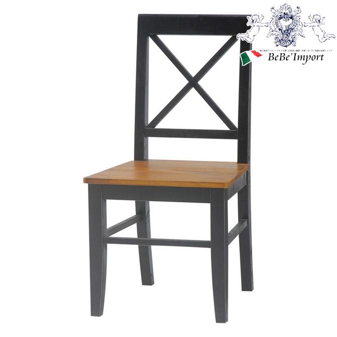 \44%OFF/ ヨーロピアン BROCANTE ブロカント チェア BK(2101562800) 【アンティーク調 輸入家具 椅子 イス フレンチカントリー ナチュラル シャビーシック ブラック 黒 かわいい おしゃれ】