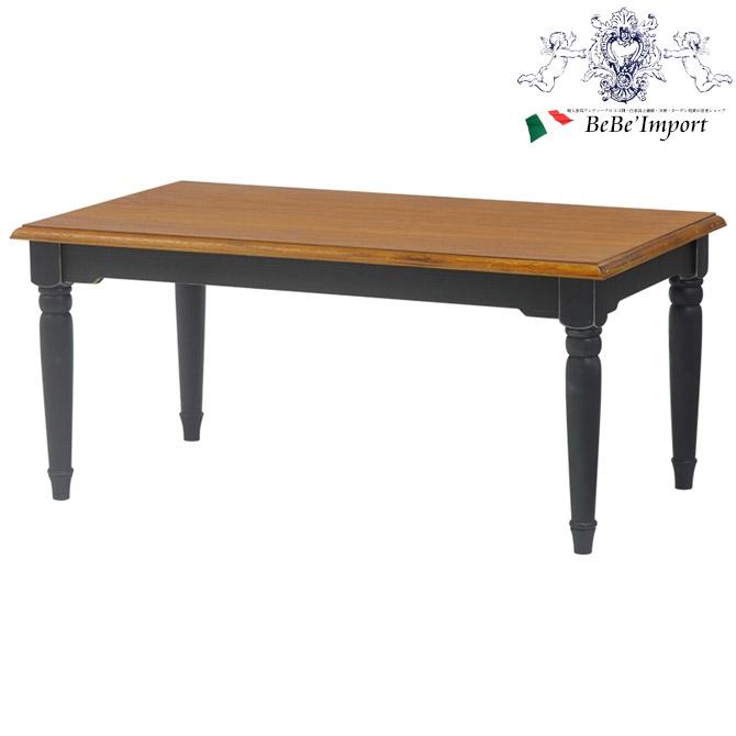 \43%OFF/ ヨーロピアン BROCANTE ブロカント テーブルSQ BK(2101563600)アンティーク調 輸入家具 センターテーブル スクエア フレンチカントリー ナチュラル シャビーシック ブラック 黒 かわいい おしゃれ