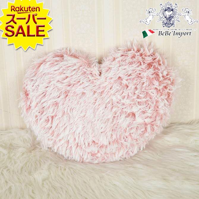 供え ふわふわクッション ピンク ファー リビング インテリア 飾り ハート型 かわいい おしゃれ クッション プリンセス ピンク色 バーゲンセール 姫系 ふわふわ ssp5 ヨーロピアン スーパーセール特価\10%OFF