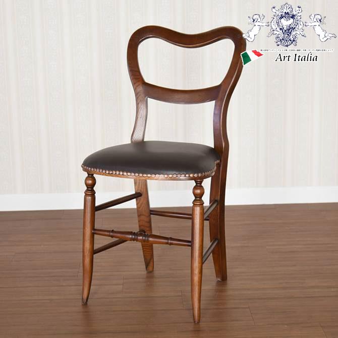 イングランドアンティーク調オーク・ハートバックチェアー オーク家具 イス 椅子 英国調 クラシック ヨーロピアン クラシカル おしゃれ ぬくもり 滑らか 木目 曲線美 猫脚 ハート背もたれ