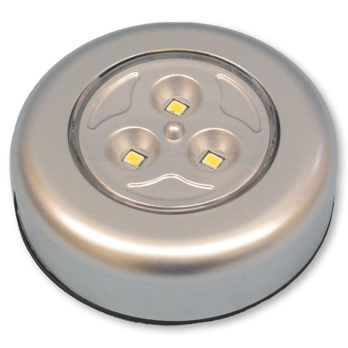 暖かい色味のLEDライトです プッシュLEDライト 3灯式 メーカー直売 暖色 電池別売 出荷 工作 照明