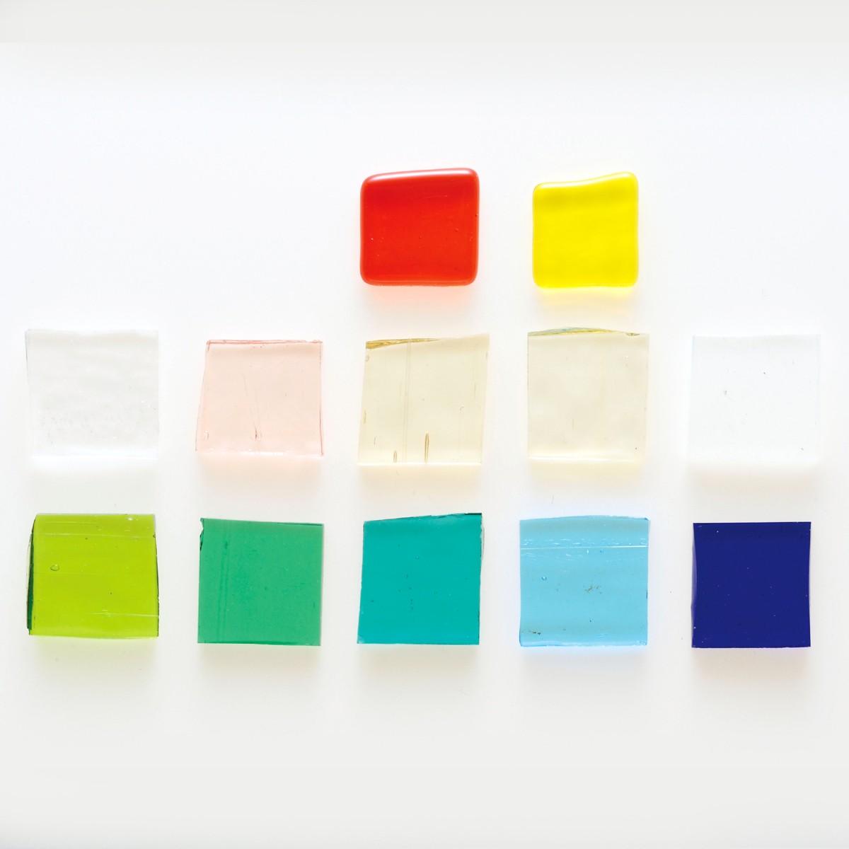 板ガラス 透明 10色セット 【 工芸 ガラス 胎七宝 釉薬 七宝 】