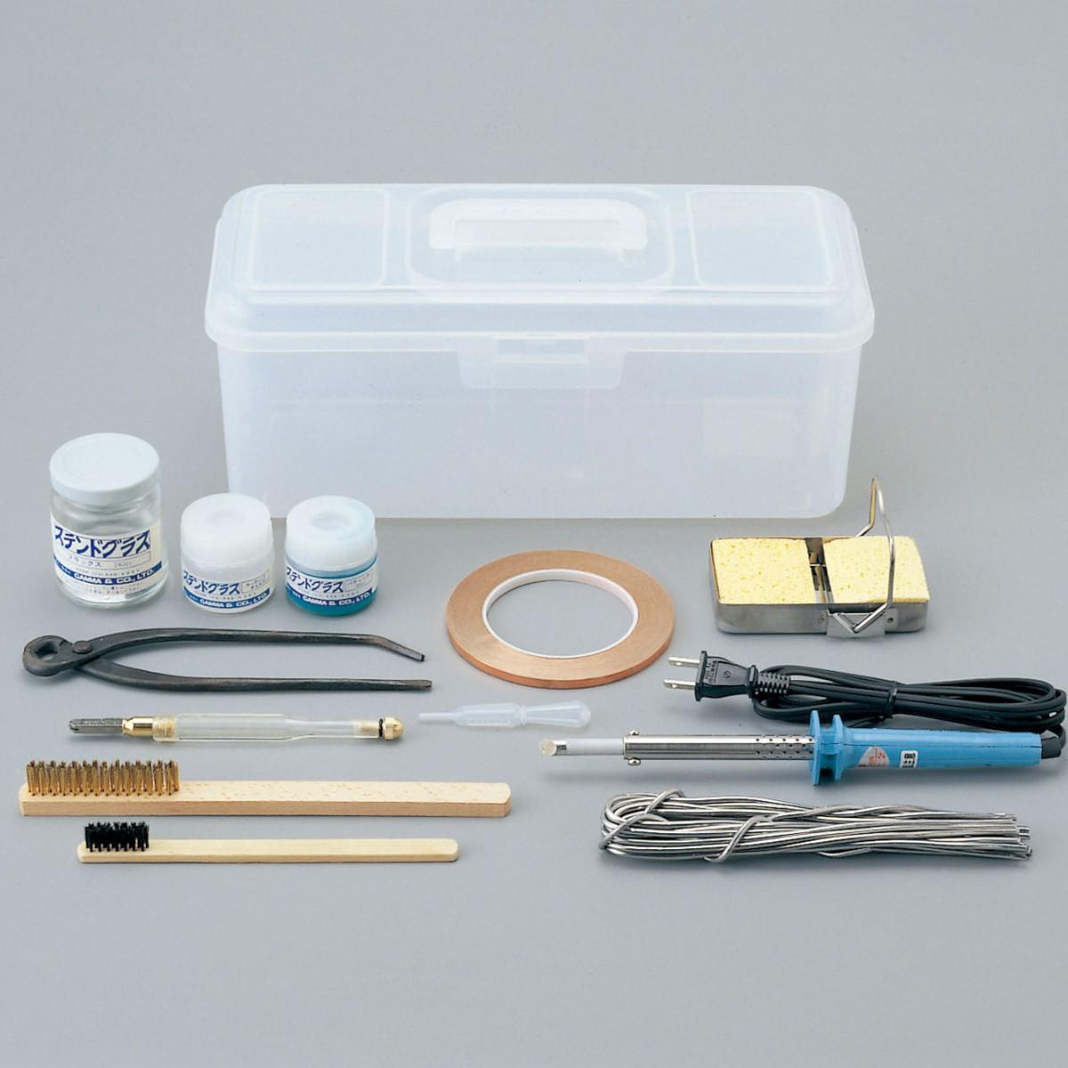 ステンドグラス工具セット Aセット 【 工芸 ステンドグラス 工具 ガラス 】
