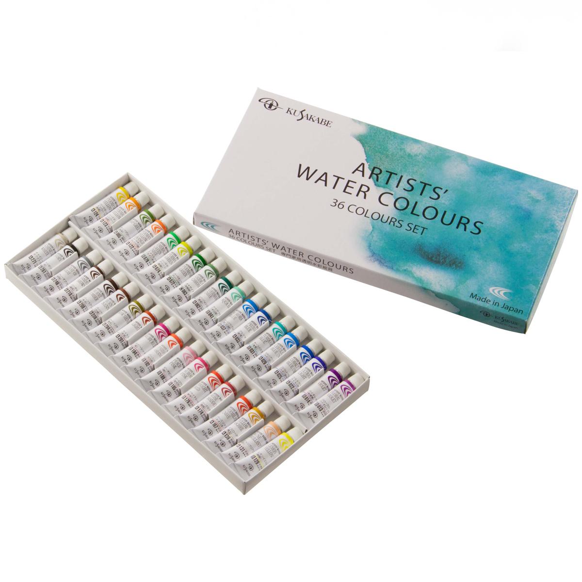 [ ゆうパケット可 ] クサカベ専門家水彩絵の具 36色セット NW36 【 絵画 絵具 水彩 えのぐ 水彩画 】