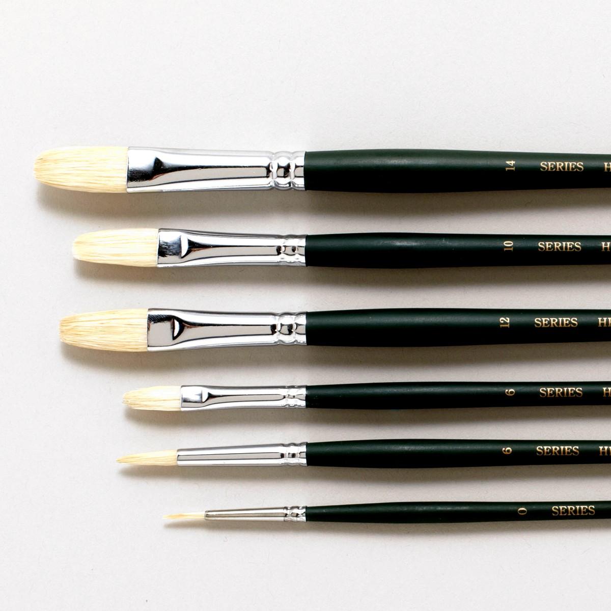 [ ゆうパケット可 ]  油絵筆 スターターセット I&B 6本組 【 油絵 アクリル画 筆 豚毛 】