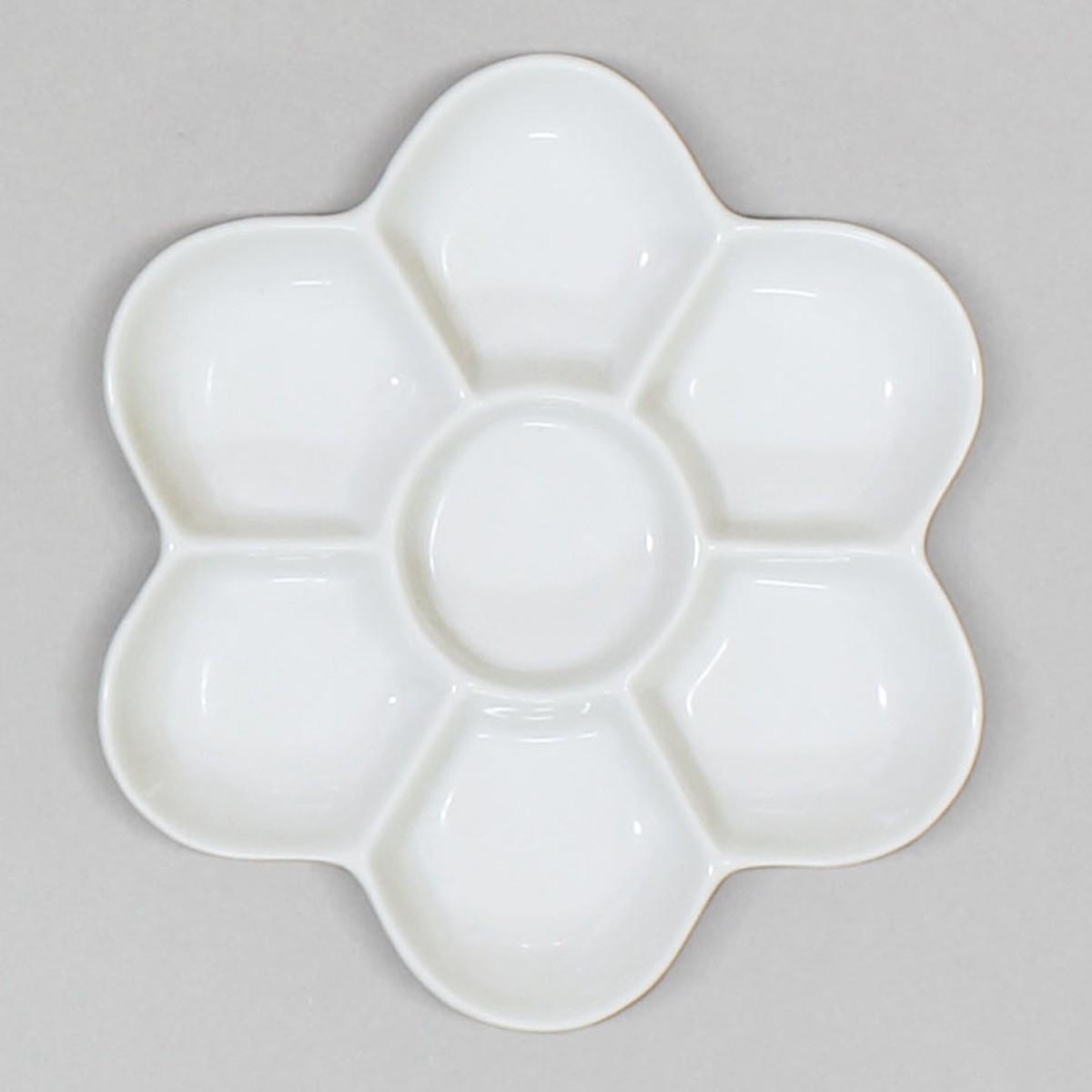 えのぐを混ぜるのに便利です 梅皿 径150mm 陶器製 出色 テレビで話題 深型 皿 パレット えのぐ 絵具皿 絵具