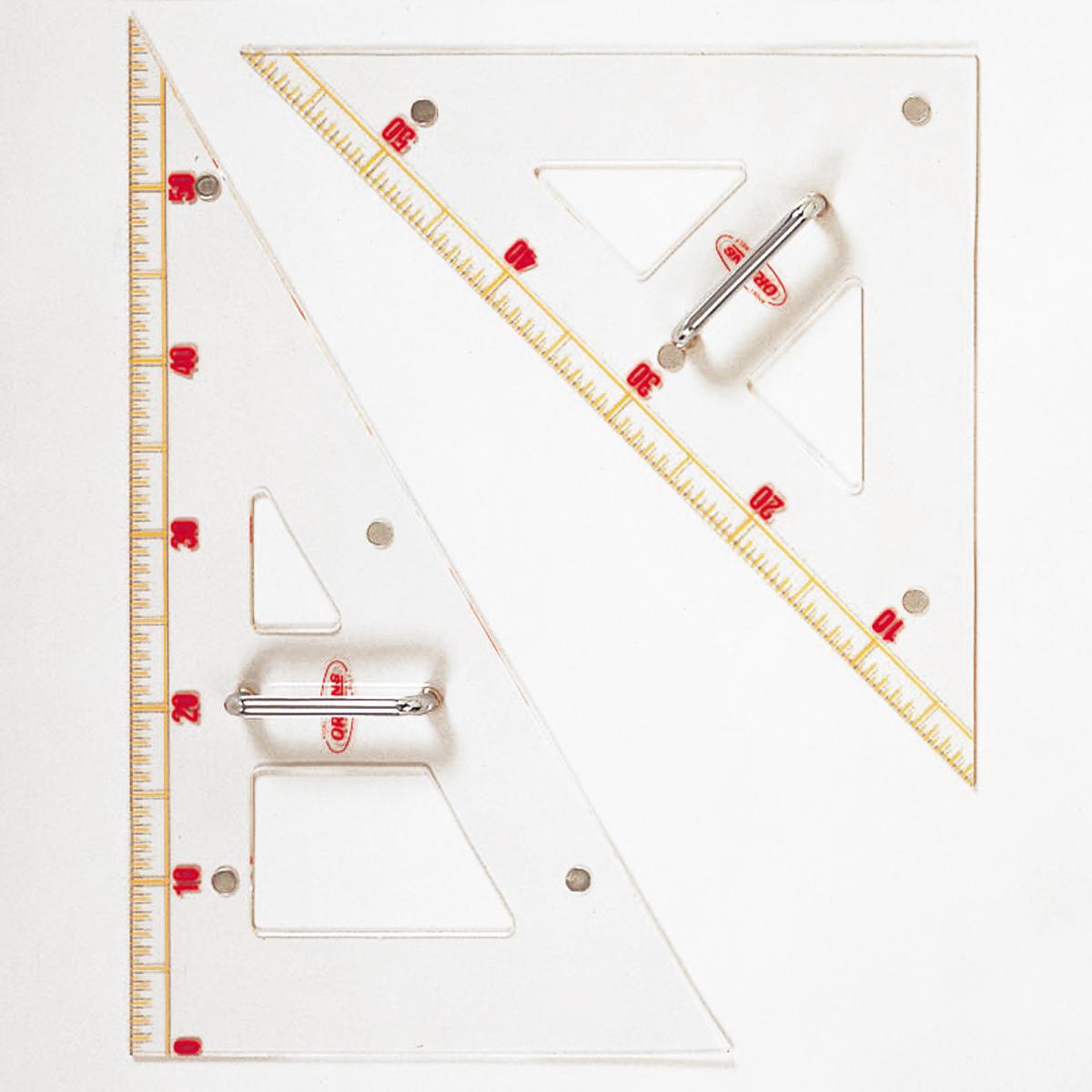 大三角定規 アクリル製 600mm 【 製図 定規 三角 直角 】
