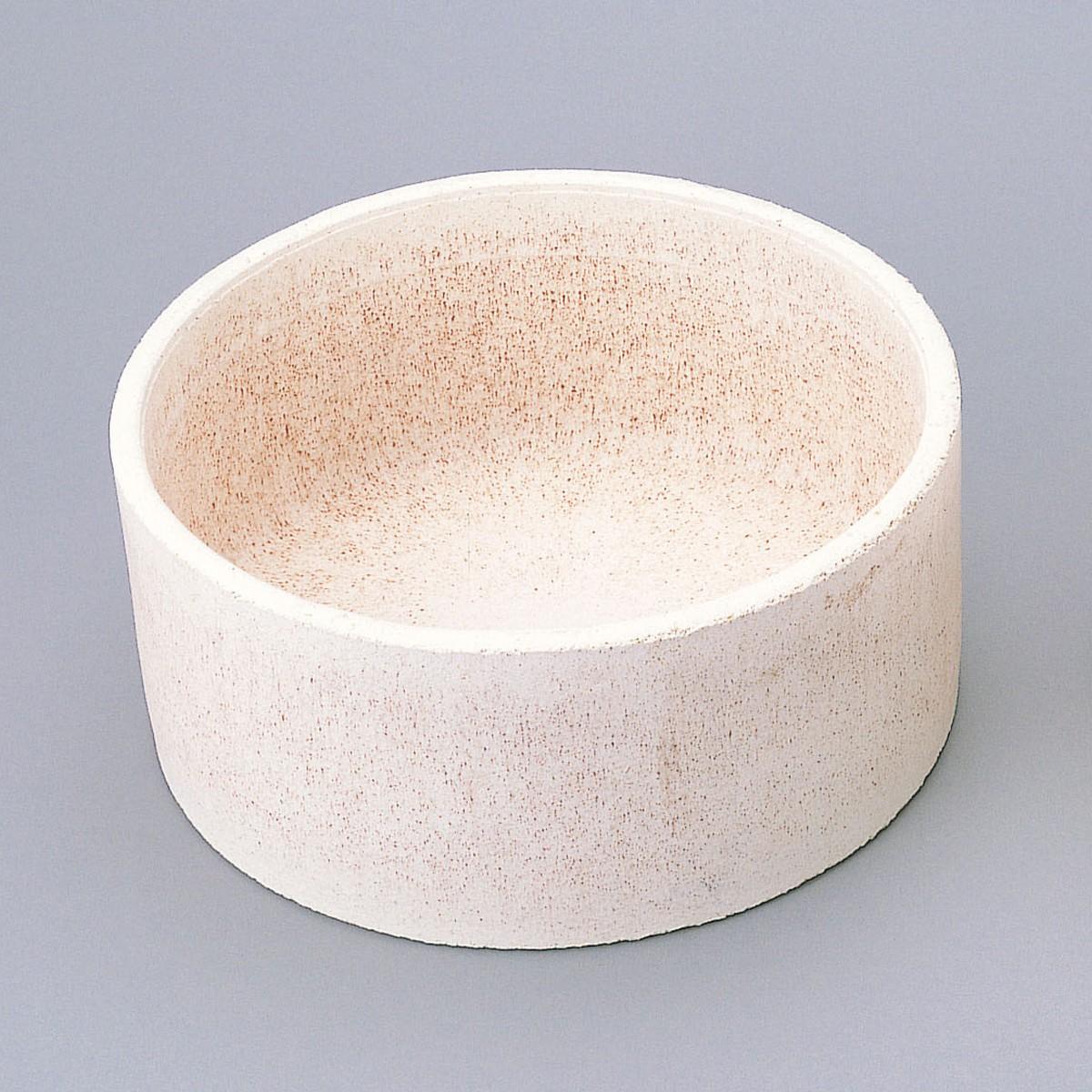 サヤ鉢 丸 2個組 底付き 350mmφ 【 陶芸 陶芸窯 さや 】