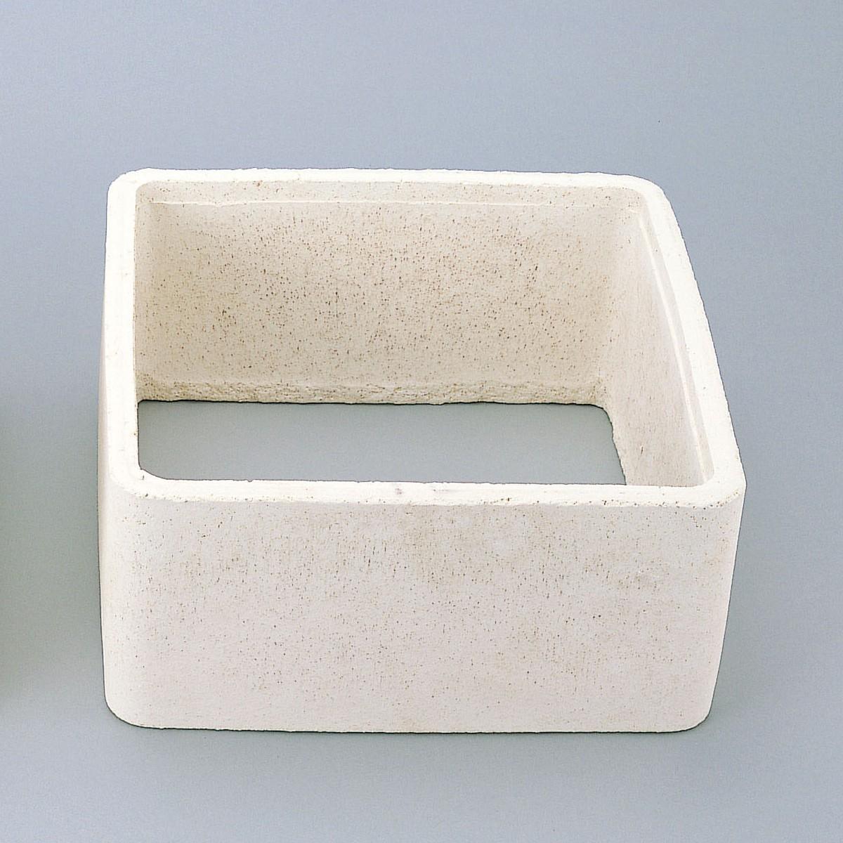 サヤ鉢 角 2個組 底なし 265mm角 【 陶芸 陶芸窯 さや 】