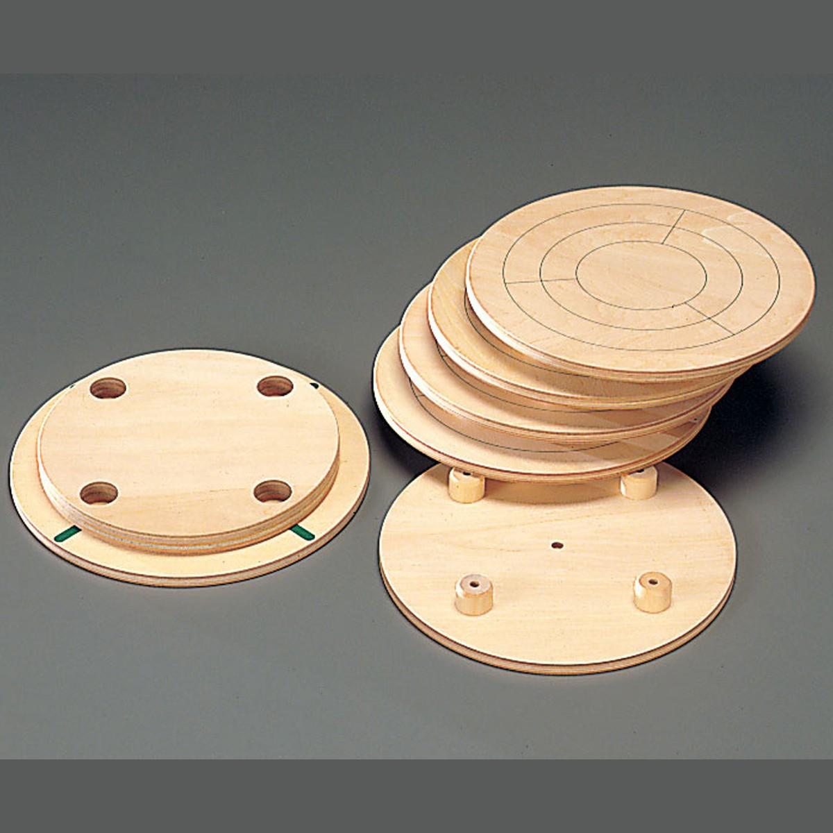 芯出し板 上板 下板セット 300mmφターンテーブル用 【 陶芸 ろくろ かめ板 】