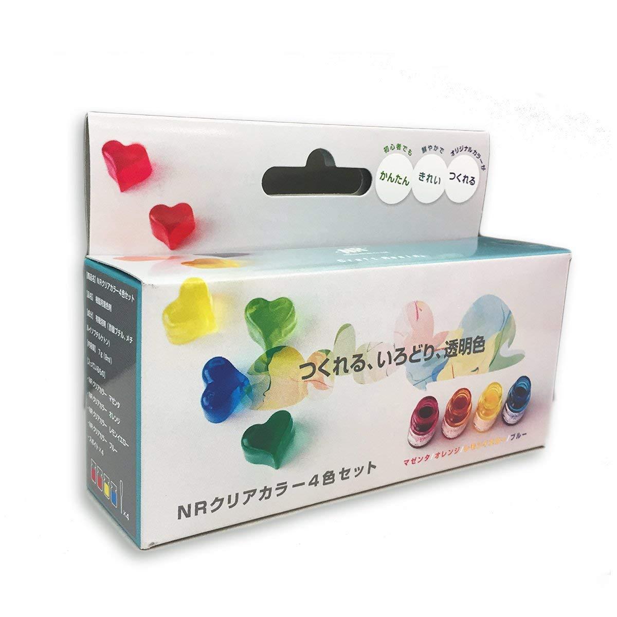 透明色のオリジナルカラーを作ろう 日新レジン NRクリアカラー 透明顔料 注型用 買収 4色セット 樹脂 お歳暮