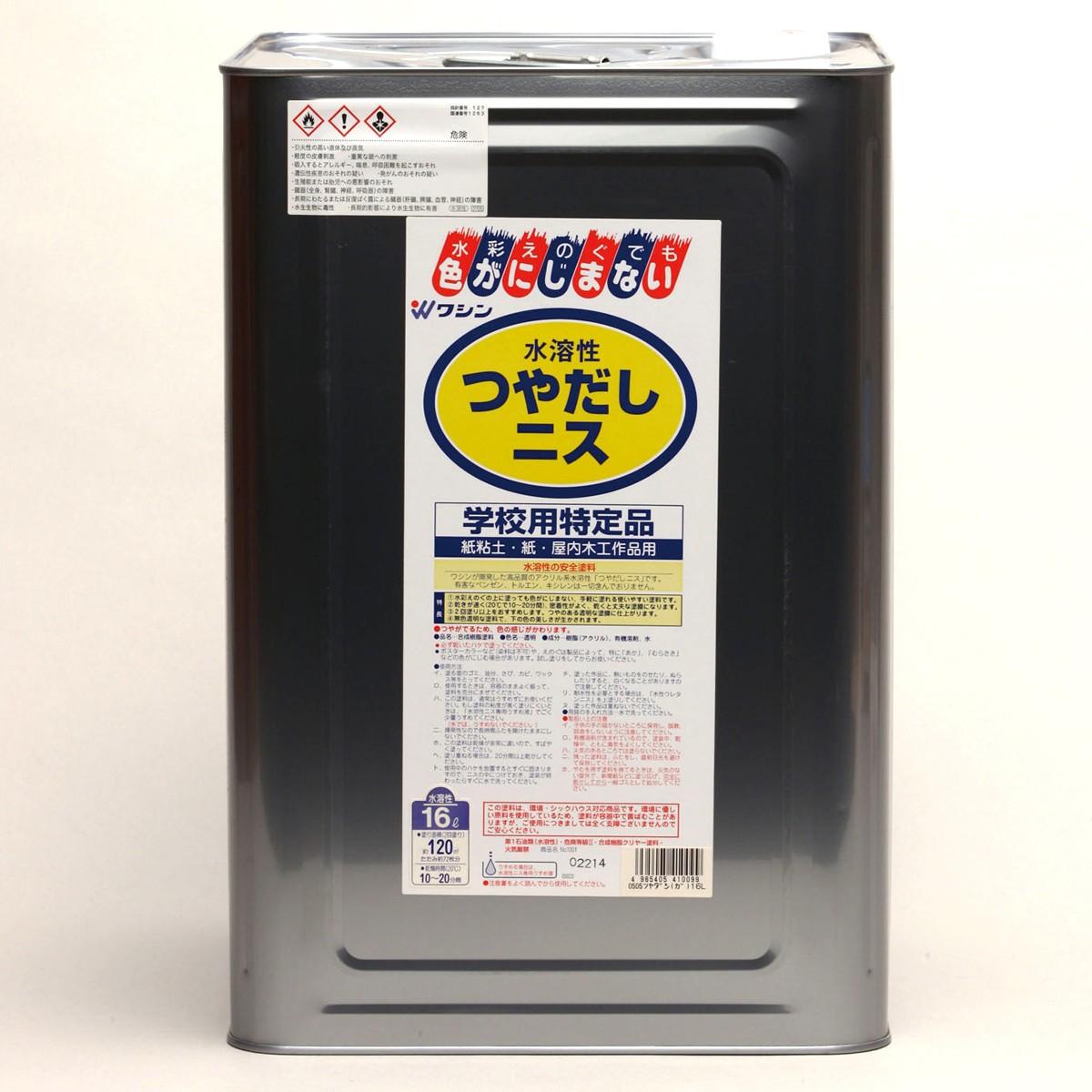 和信ペイント つや出しニス 水溶性 16L 【 ニス 】