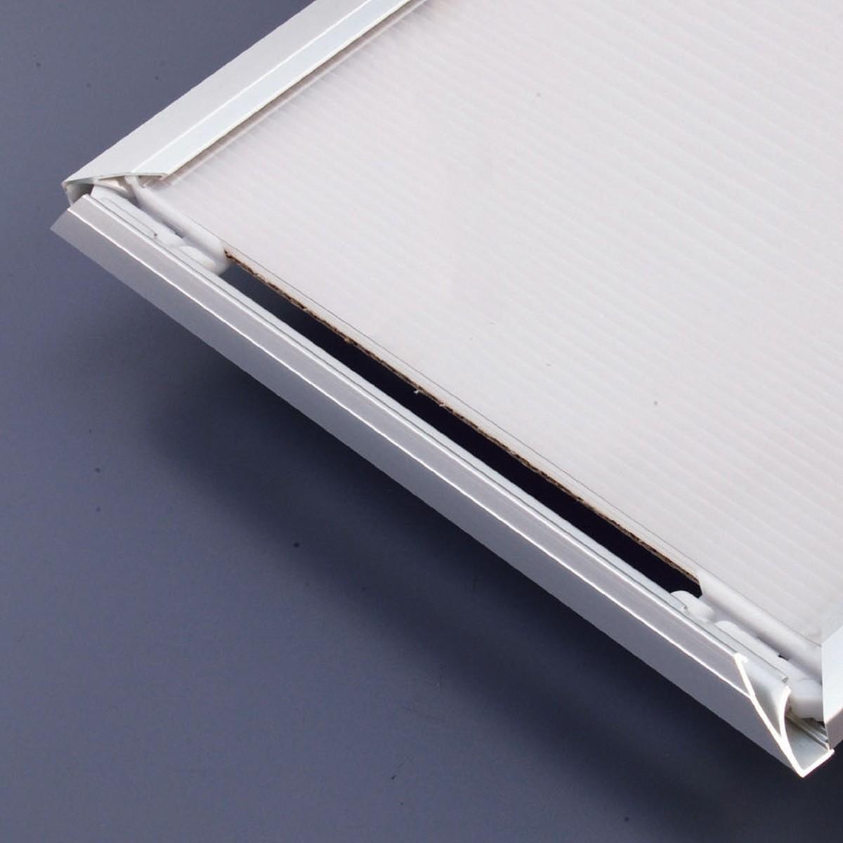額縁 アルミ製 VE-1 前開きクリックフレーム A0サイズ 【 展示 発表 額縁 水彩 】