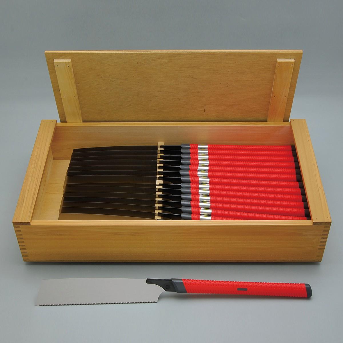 替刃式のこぎり 265GS 15丁組 木箱入 【 木工 木彫 木工具 のこぎり セット 】