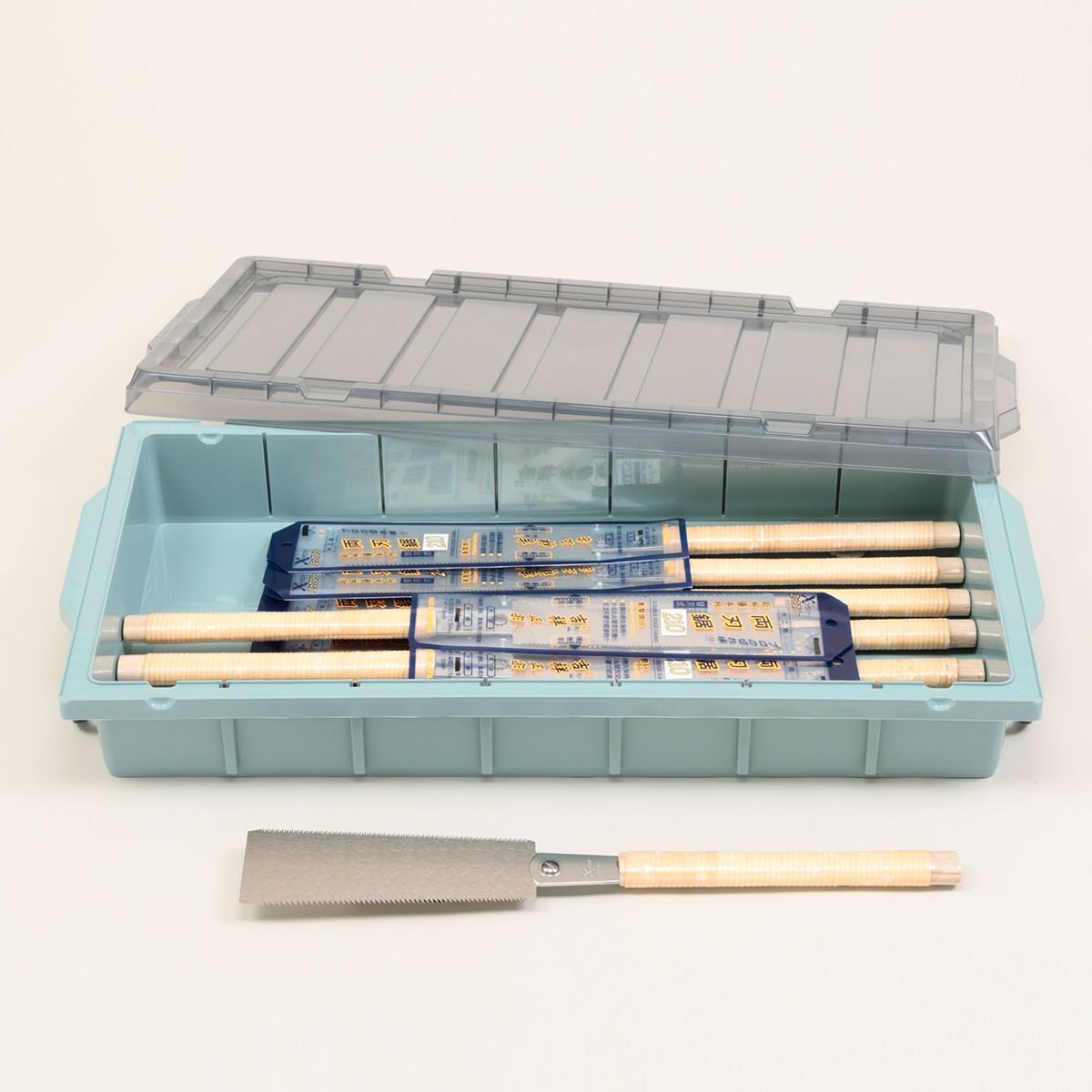木工・木彫を楽しもう 両刃のこぎり 吉祥正宗 替刃式 210mm 10丁組(ケース付) 【 木工 木彫 木工具 のこぎり 両刃 】