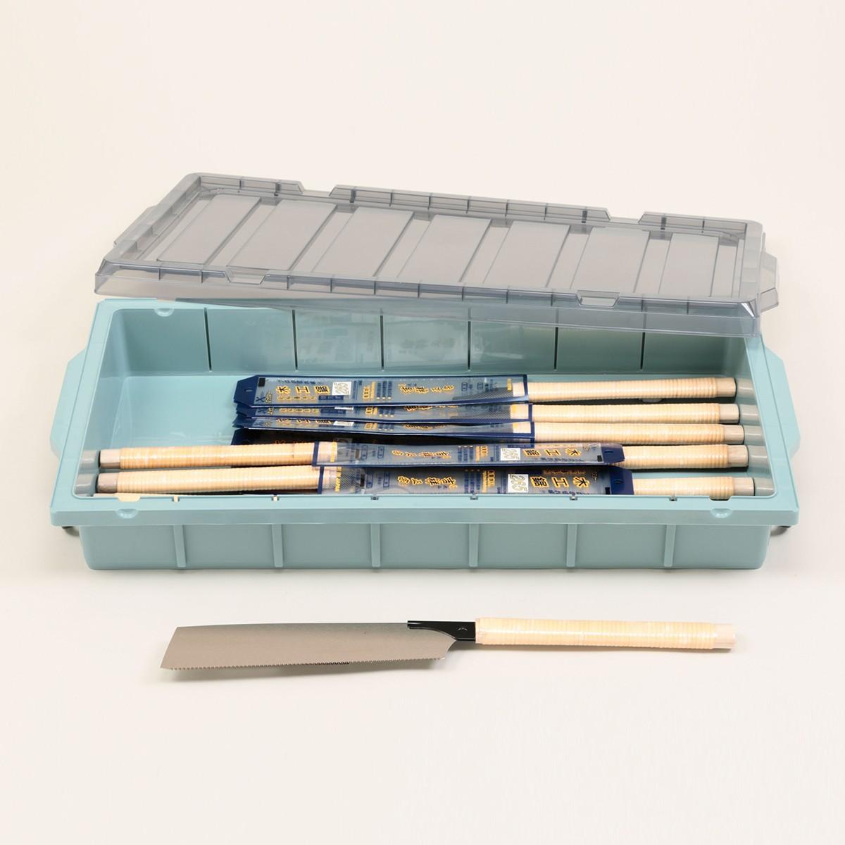 片刃のこぎり 吉祥正宗 替刃式 265mm 10丁組(ケース付) 【 木工 木彫 木工具 のこぎり 片刃 】
