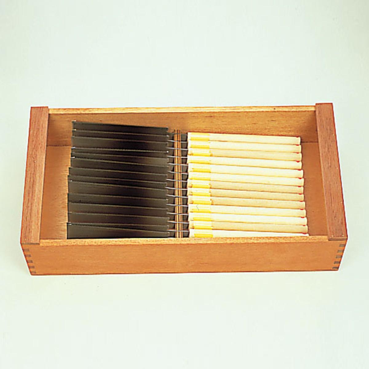 木工具整理箱 両刃のこぎり整理箱(幅広タイプ) 【 木工 木彫 木工具 収納 整理 箱 】