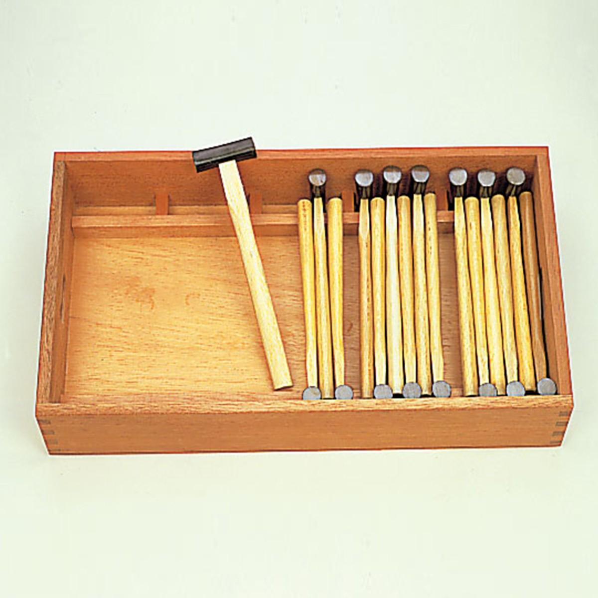 木工具整理箱 両口げんのう整理箱 【 木工 木彫 木工具 収納 整理 箱 】