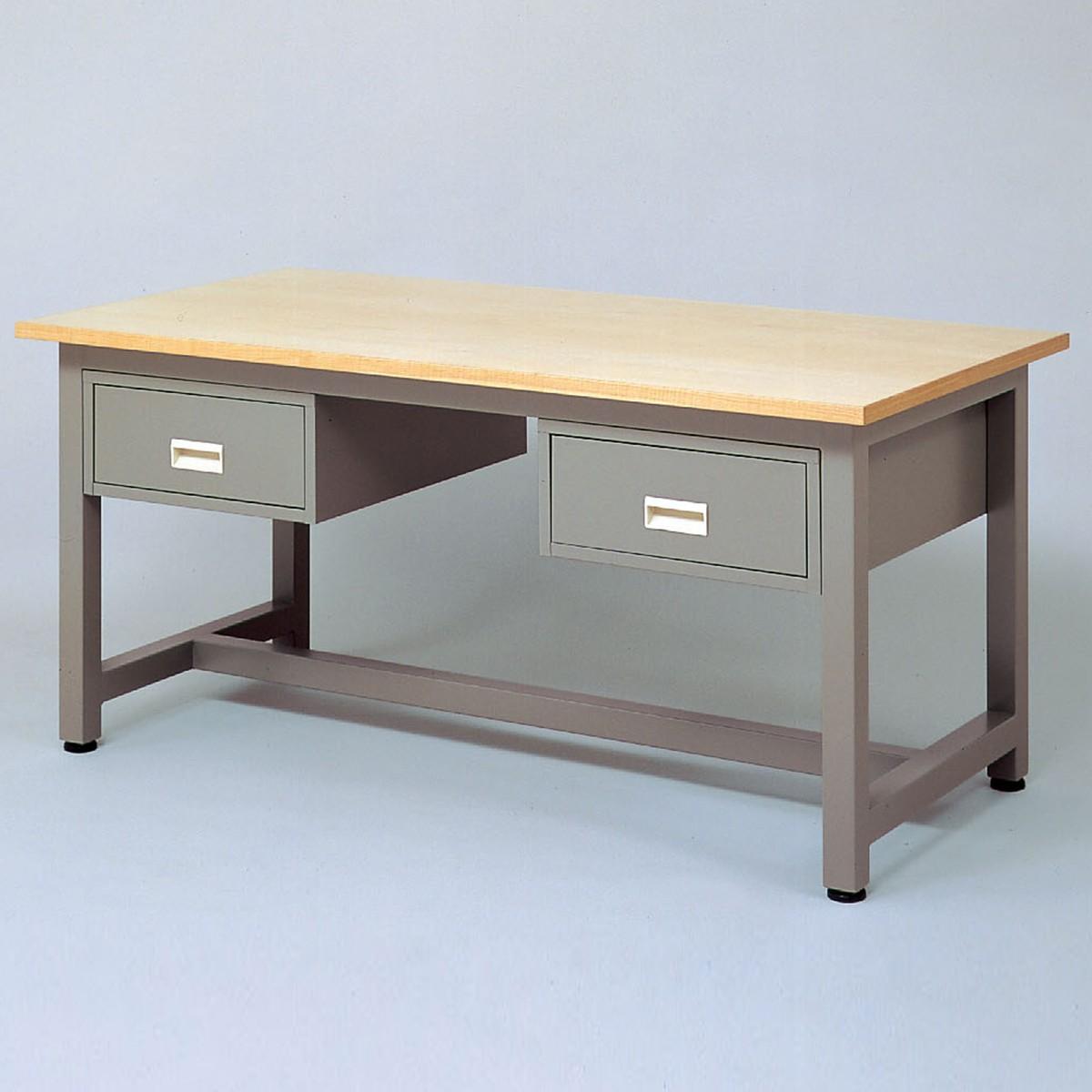 <お取り寄せ品※代引きキャンセル不可> 工作台 EK-H2型 引出し付き 【 工作台 机 木製 図工室 美術室 】