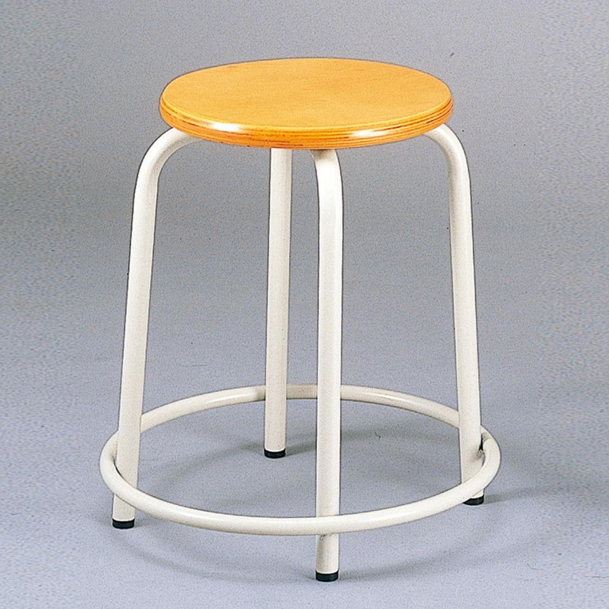 丸型椅子 C-52型 積重ね式 【 学校 美術 図工室 椅子 】