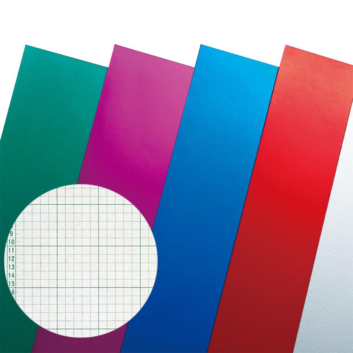 裏面に方眼が印刷されているので設計しやすい カラー工作用紙 裏面方眼付 A3判 ホイルカラー 10枚組 【 工作 紙 方眼 造形 製作 】