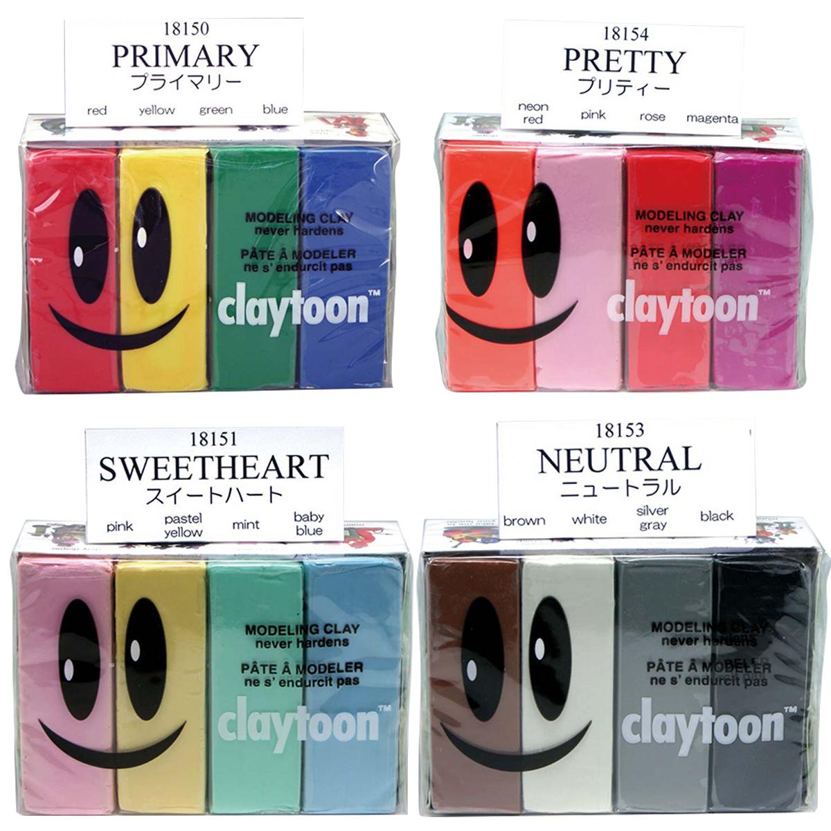 クレイアニメに最適な粘土です モデリングクレイ お求めやすく価格改定 春の新作続々 クレイトーン 粘土 4色セット クレイアニメ