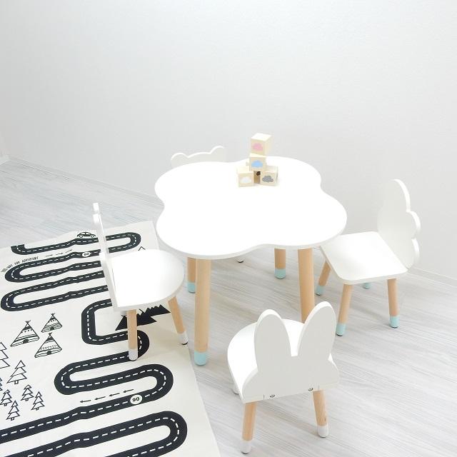 キッズテーブル 雲型 ※椅子は別売りです【art of black】ウッドテーブル インテリア 北欧