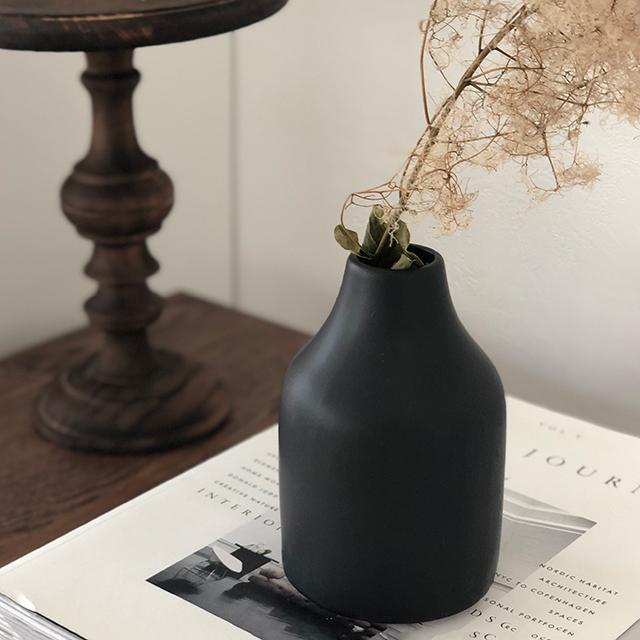 陶器 シンプル フラワーベース 花瓶 ホワイト ブラック 爆売り of 流行 art black グレージュ