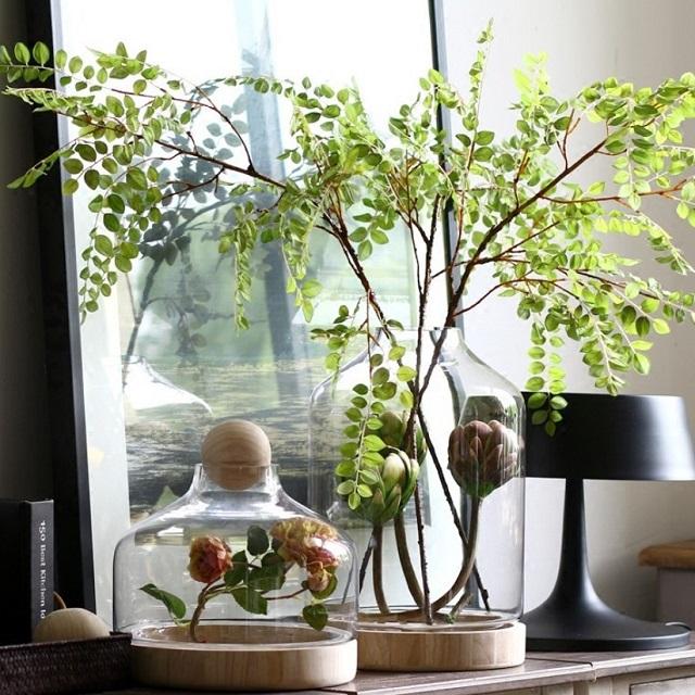 日本正規代理店品 ウッドボール ガラス 一部予約 フラワーベース 花瓶 of black art