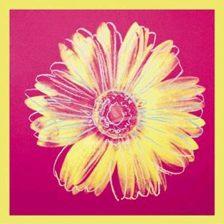 【アートポスター】デイジー1982年(フクシア色と黄色)915mm×915mm -ウォーホル-